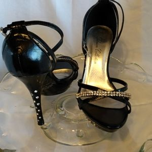 Blossom collection heels with bling